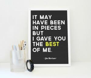 Jim Morrison Quotes Friendship Jim morrison quote print the