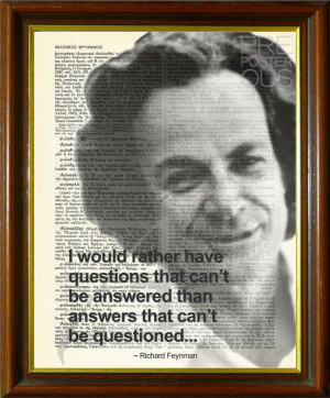 Richard Feynman Quote / Upcycled Antique Dictionary Page / Science vs ...