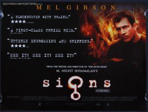 Signs (2002 ) 'Quotes' - Original British Quad Movie Poster