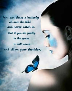 You Can Chase A Butterfly…