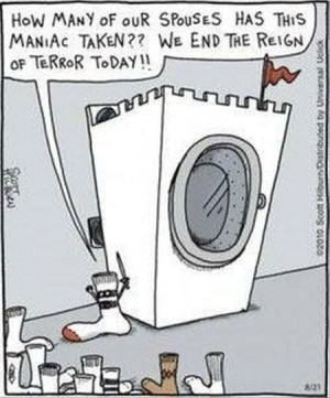 Socks and washing machine - funny cartoon at PMSLweb.com
