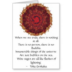 Yoka Genkaku Zen Buddhist Verses and Quotes Cards