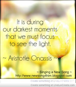 Aristotle Onassis Quote Focus