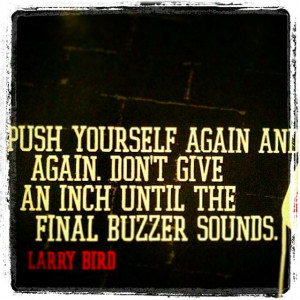 Inspirational quote - Larry bird