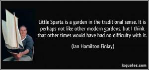 Ian Hamilton Finlay Quote
