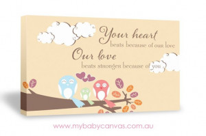 Your Heart Beats Because | Baby Quote Canvas Design | My Baby Canvas ...