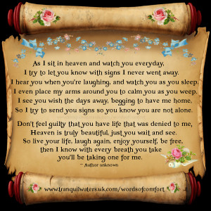 Words of Comfort - Bereavement Poems - Bereavement Quotes - Page 3