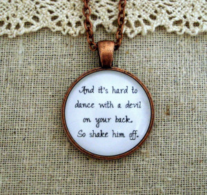 Florence and the Machine Shake It Out Inspired Lyrical Quote Necklace ...