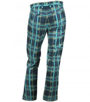 Blue Plaid Golf Pants