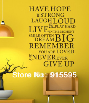 Free-Shipping-CPA-Have-Hope-Vinyl-PVC-Wall-Stickers-Wall-Quotes-Decal ...