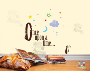 Once Upon a Time - Inspirational Quotes Wall Decals - TXOU010