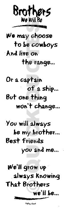 I Love My Brother Poems And Quotes Poems About Brothers A...