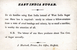 Consumer Action (boycotts of sugar and rum)