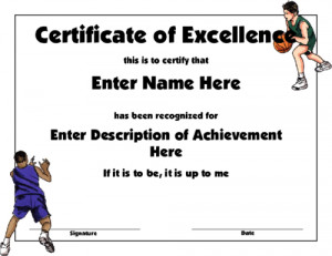 Editable Basketball Award With A Simple Design Featuring Two