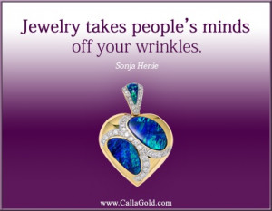 ... in a yellow gold pendant for Lori. Quote by Sonja Henie. She rocks