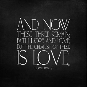 Quotes of faith hope and love