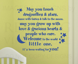 ... Quote Sticker Vinyl Lettering Welcome to the World Baby Nursery B19