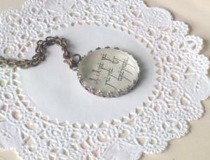 Elvish LOTR Book Quote Necklace