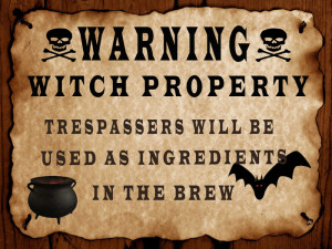 MM ☠ Bewitched ☠ Warning witch sign full perm deco(texture HD ...
