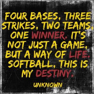 Softball Player Quotes Softball quote