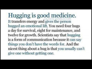 So go on, give someone a hug!