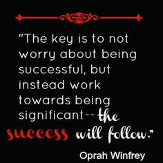 LOVE this quote from Oprah Winfrey. Check out these tips to be ...