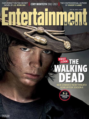 The Walking Dead's Rick, Daryl and Carl feature on the cover of EW