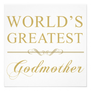 World's Greatest Godmother Personalized Invites