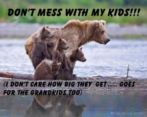 DON'T MESS WITH MY KIDS!!!: Bears Cubs, Mama Bears, Brown Bears, Baby ...