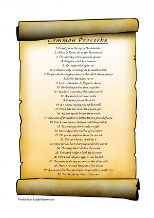 Click here for the full-sized list of proverbs