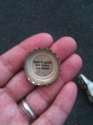 Magic Hat bottle cap from this past weekend