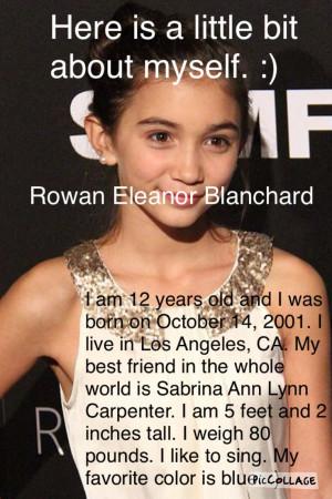 Rowan Blanchard