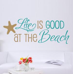 your study shoppngirlguru beach themed wall decals cachedquotes walls ...