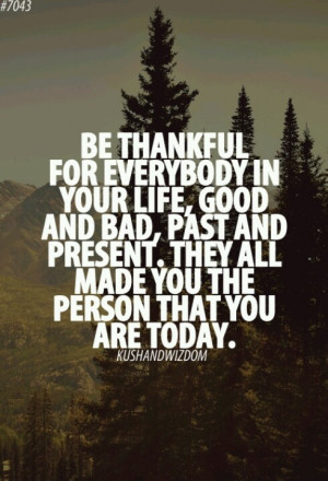 Don't be bitter, be thankful