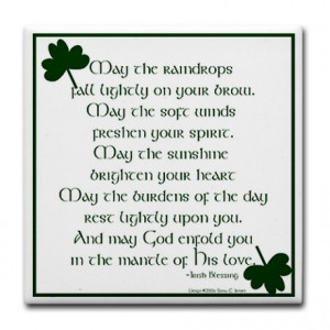 Irish Blessing 2 Tile Coaster