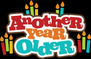 Another Year Older SVG scrapbook title birthday svg file for ...
