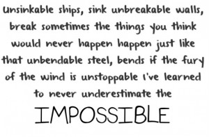 The Impossible- Joe Nichols The Song This Fic is based off of.