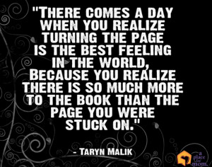 There comes a day when you realize turning the page is the best ...