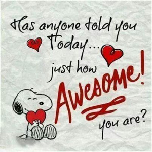You're awesome...