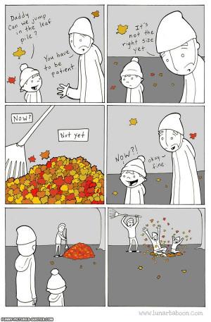 Funny Leaf Pile