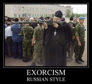 funny priest Russia exorcism