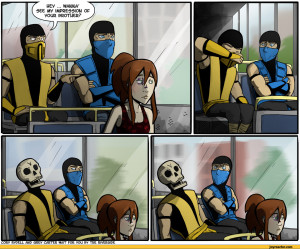 ... miss,sub-zero,mortal kombat,games,brother,Scorpion (character