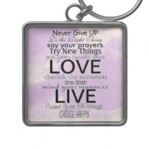 Inspirational Quotes and Sayings Key Chains