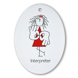 ... Asl Gifts Seasonal Sign Language Interpreter Oval Ornament picture
