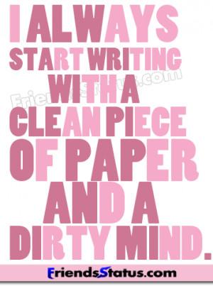 dirty mind fb status update image