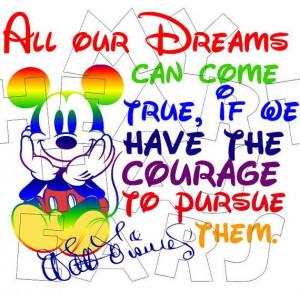 Printable DIY Mickey Mouse Walt Disney quote dreams can come true Iron ...