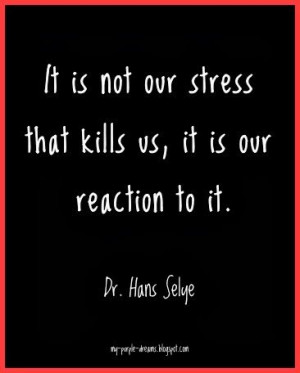 New view on stress. It's not what happens to you that makes you ...