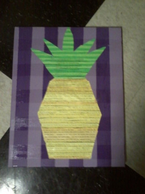 Psych Quotes pineapple canvas