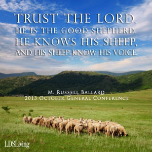 ... His sheep know His voice.