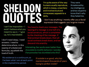 Sheldon Cooper Quotes – Big Bang Theory